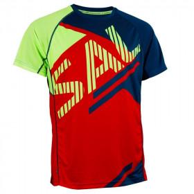 Salming Bold Print moška tekaška majica - Senior