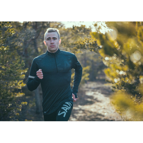 Salming Phase Halfzip maglia manica lunga da corsa uomo - Senior